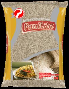 Pacote de arroz da marca Paulista