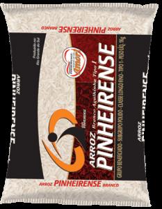 Pacote de arroz da marca Pinheirense