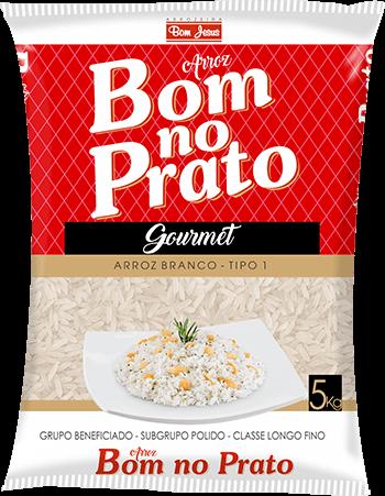 Imagem do Pacote de 5kg do Arroz Branco da marca Bom no Prato