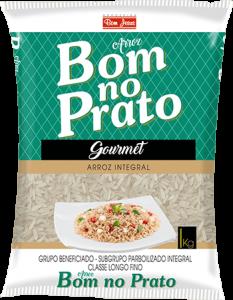 Imagem do Pacote de 5kg do Arroz Integral da marca Bom no Prato