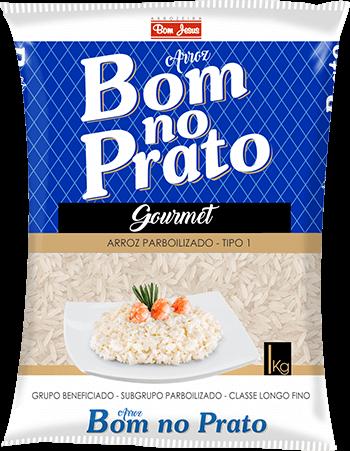 Imagem do Pacote de 5kg do Arroz Parboilizado da marca Bom no Prato