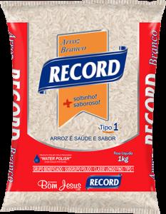 Imagem do Pacote de 1kg do Arroz Branco da marca Record