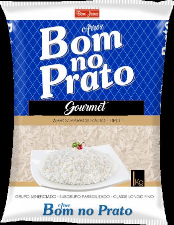 Imagem do Pacote de 1kg do Arroz Parboilizado da marca Bom no Prato